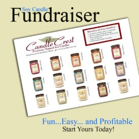 Candle Fundraiser with Candle Crest Soy Candles - Free Shipping!