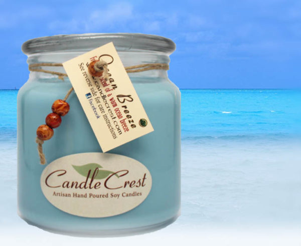 Ocean Breeze Scented Candles by Candle Crest Soy Candles
