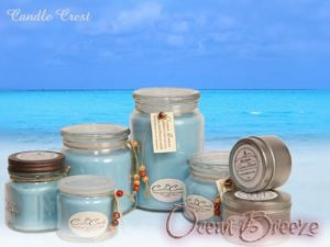 Ocean Breeze Scented Soy Candles by Candles Crest
