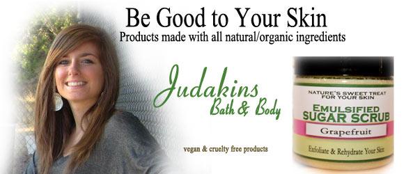 Natural bath and body - vegan bath products by Judakins Bath & Body
