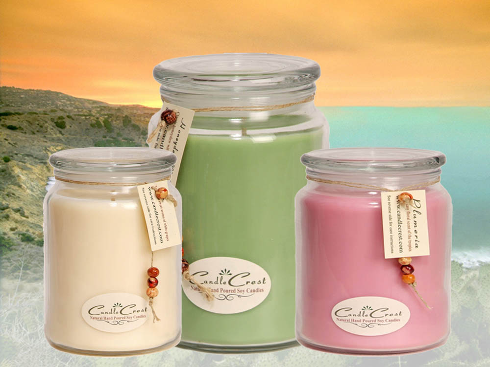 Soy Candles - Over 100 scented soy candle fragrances to choose from. Candle Crest Soy Candles