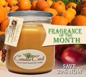 Fall Candles on Sale - Fragrance of the Month - Candle Crest Soy Candles
