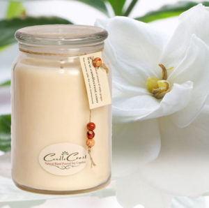 All White Scented Soy Candles by Candle Crest