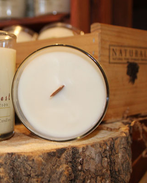 Wooden Wick Candles by Candle Crest Soy Candles Inc