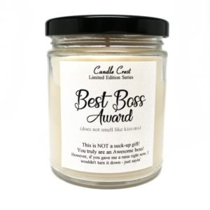 Give your boss a gift they will love - Boss Candles by Candle Crest