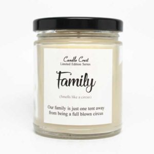Funny Family Candle Gifts by Candle Crest Soy Candles
