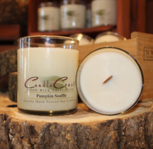 Wooden wick soy candles by Candle Crest