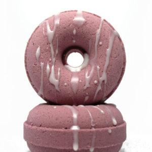 Black Raspberry Vanilla Scented Donut Bath Bomb