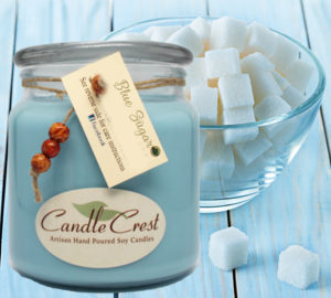 Blue Sugar Scented Soy Candles by Candle Crest Soy Candles Inc