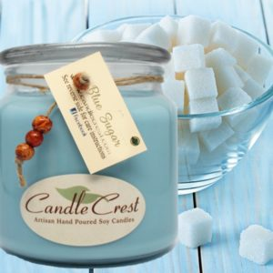 Blue Sugar Scented Candles by Candle Crest Soy Candles Inc