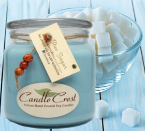 Blue Sugar Soy Candles by Candle Crest Soy Candles Inc