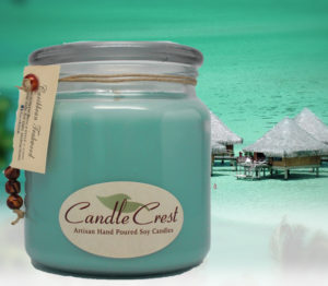 Caribbean Teakwood Scented Soy Candles by Candle Crest Soy Candles Inc