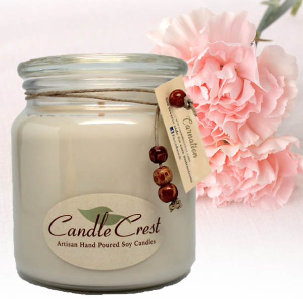 Carnation Scented Soy Candles by Candle Crest Soy Candles Inc