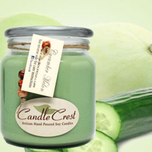 Cucumber Melon Scented Candles by Candle Crest Soy Candles Inc
