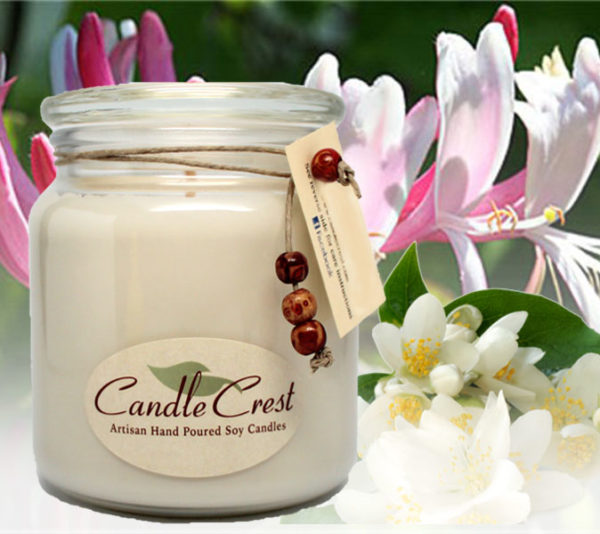 Honeysuckle Jasmine Scented Soy Candles by Candle Crest Soy Candles Inc