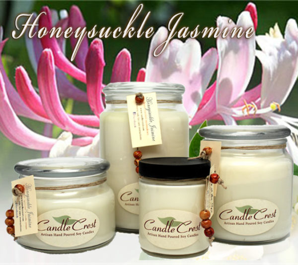 Honeysuckle Jasmine - Scented Candles by Candle Crest Soy Candles Inc