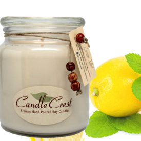 Lemon Mint Scented Soy Candles