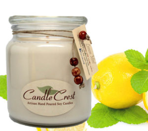 Fresh Lemon Mint Soy Candles by Candle Crest Soy Candles Inc
