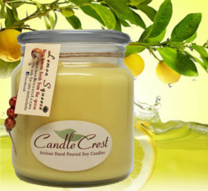 Lemon Squeeze Soy Candles by Candle Crest