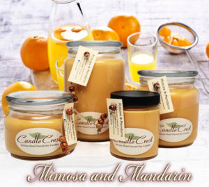 Mimosa and Mandarin Soy Candles by Candle Crest Soy Candles Inc