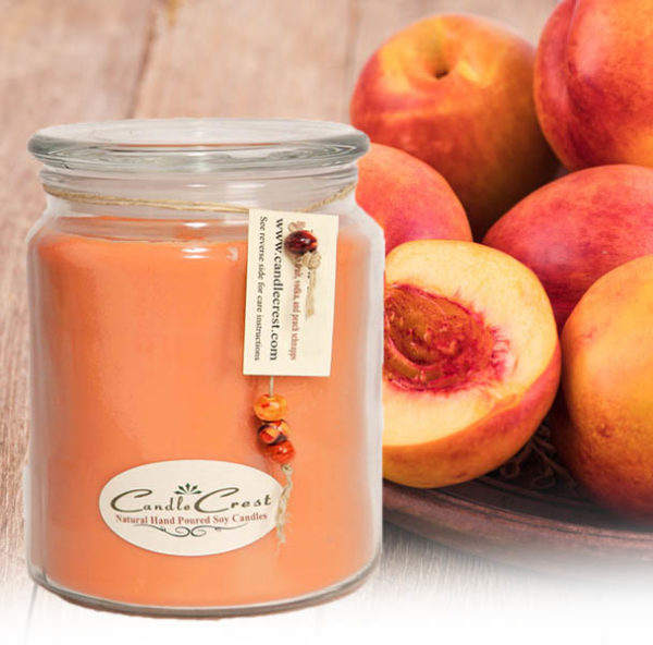 Nectarine & Ginger Scented Soy Candles by Candle Crest Soy Candles Inc