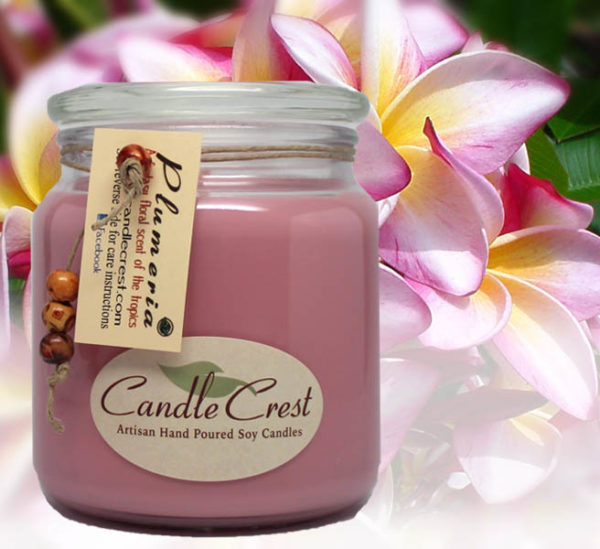 Plumeria Scented Soy Candles by Candle Crest Soy Candles Inc