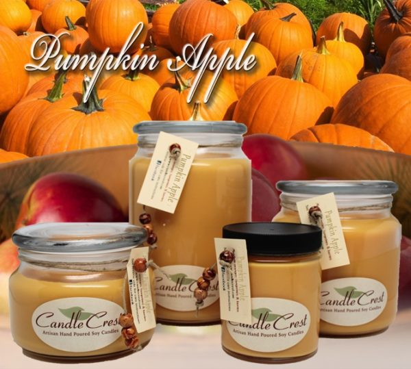 Pumpkin Apple - Fall Soy Candles By Candle Crest Soy Candles Inc