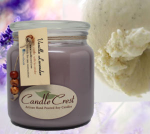 Vanilla Lavender Scented Candles by Candle Crest Soy Candles Inc