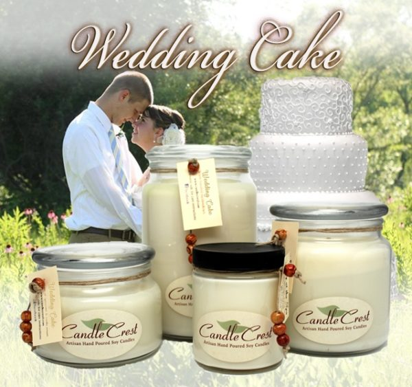 Wedding Cake Scented Candles by Candle Crest