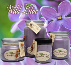 Lilac Scented Soy Candles by Candle Crest
