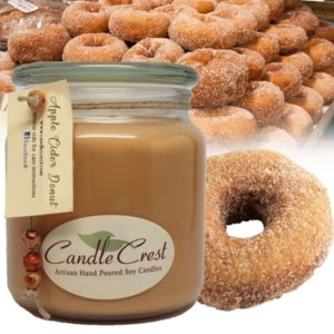 Apple Cider Donut Scented Candles by Candle Crest Soy Candles Inc