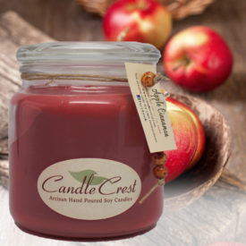 Apple Cinnamon Scented Candles by Candle Crest Soy Candles Inc