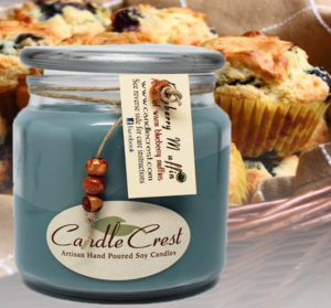 Blueberry Muffin Scented Candles by Candle Crest Soy Candles Inc