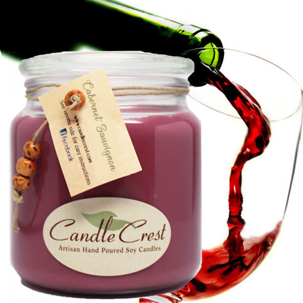 Wine Scented Soy Candles by Candle Crest