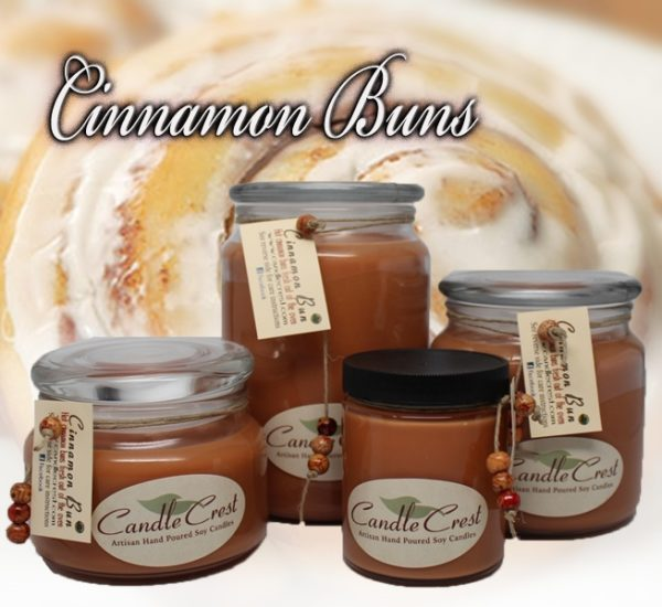 Cinnamon Buns Scented Soy Candles by Candle Crest