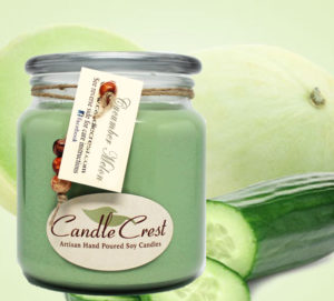 Cucumber Melon Soy Candles by Candle Crest Scented Soy Candles Inc