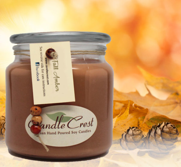 Fall Candles - Fall Amber Soy Candles by Candle Crest