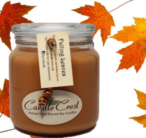 Fall Candles - Falling Leaves Candles by Candle Crest Soy Candles Inc