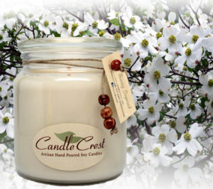 Flowering Dogwood Candles by Candle Crest Soy Candles Inc