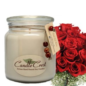 Rose Scented Soy Candles by Candle Crest Soy Candles Inc
