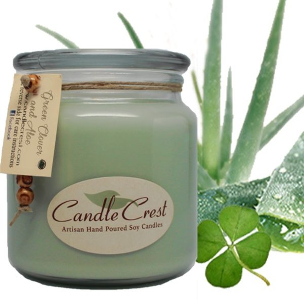 Green Clover & Aloe Candles by Candle Crest Soy Candles Inc