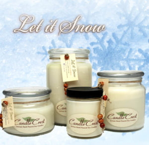 Let it Snow - Scented Candles by Candle Crest Soy Candles Inc