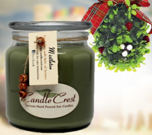 Mistletoe Scented Soy Candles by Candle Crest Soy Candles Inc