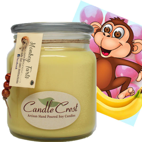 Monkey Farts Scented Soy Candles by Candle Crest Soy Candles Inc