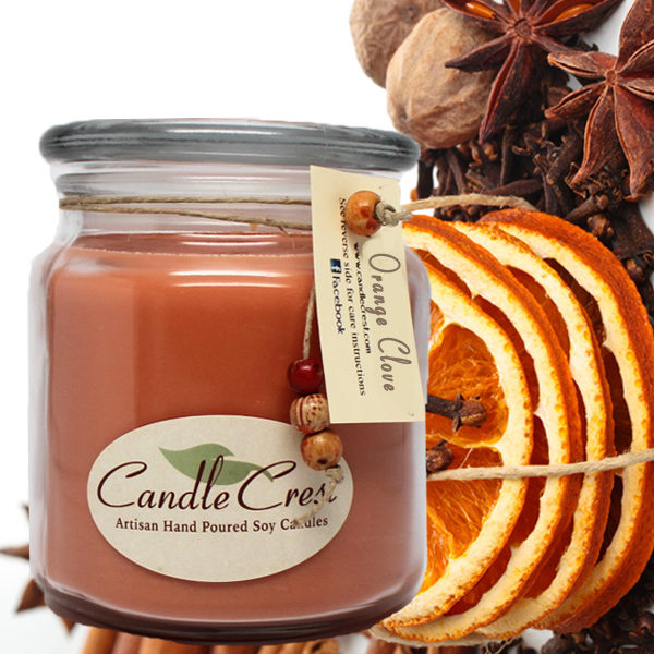 Orange Clove Scented Candles by Candle Crest Soy Candles Inc