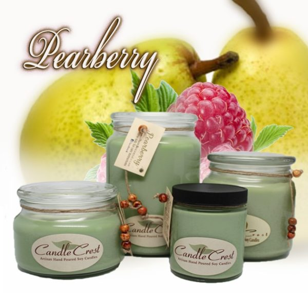 Pearberry Scented Soy Candles by Candle Crest Soy Candles Inc