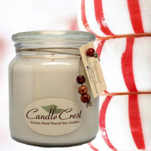 Peppermint Scented Candles by Candle Crest Soy Candles Inc
