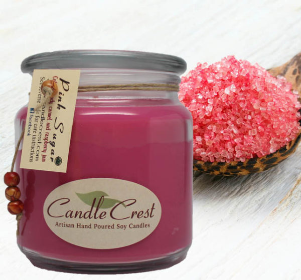 Pink Sugar Scented Candles by Candle Crest Soy Candles Inc