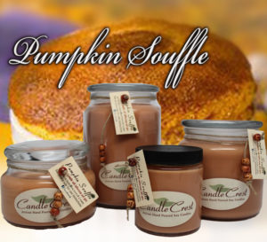 Pumpkin Souffle Scented Soy Candles by Candle Crest Soy Candles Inc