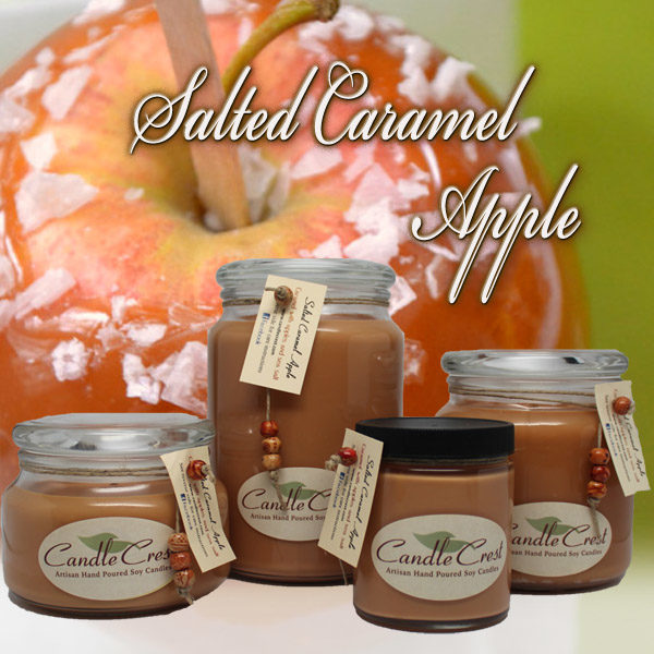 Salted Caramel Apple Scented Candles by Candle Crest